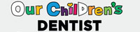 Logo for our children's dentist. Background is gray